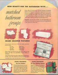 French Bathroom Fixtures by 24 Pages Of Vintage Bathroom Design Ideas From Crane 1949