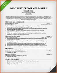 Sample Resume Of Food Service Worker by Server Resume Sample Commercetools Us