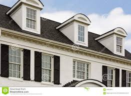 white colonial house with windows stock image image 56661811