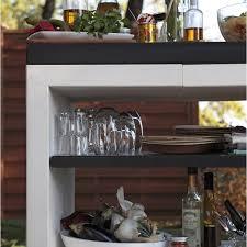 cuisine exterieur leroy merlin plan de travail en béton blanc cassé et noir kitaway l 63 x l 84 x
