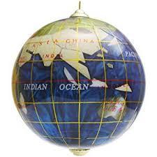 handcrafted gemstone globe ornament bermuda