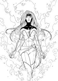 12 images of x men phoenix coloring pages jean x man coloring