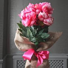 Artificial Peonies Silk Peony Stems Peony Silk Flower Stems For Casual Decorating At