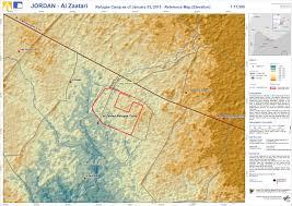 Jordan World Map by Elevation Map Jordan Camp Al Zaatari Product 4 Dlr Zki