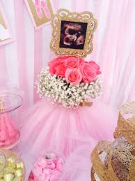 ultrasound centerpiece for baby shower ballerina tulle