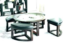 round coffee table with 4 stools coffee table nesting stools coffee tables round coffee table with