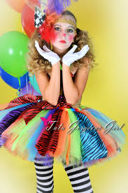 girls rainbow clown tutu halloween clown by tutugorgeousgirl