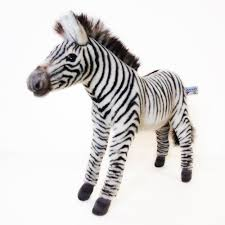 amazon com hansa grevy u0027s zebra plush animal toy 14