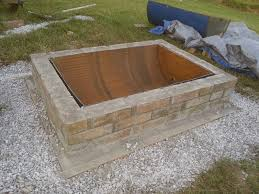 Custom Metal Fire Pits by Diy Fire Pit With Custom Cap Stone