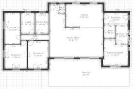 plan de maison 5 chambres plain pied maison de plain pied 7 dtail du plan de maison de plain pied 7 plan