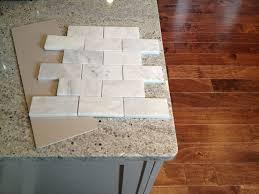 Tumbled Marble Kitchen Backsplash Marble Backsplash Tiles Ideas Also White Subway Tile Kitchen