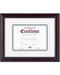 document frame get the deal 11 by 14 inch prestige document frame matted with