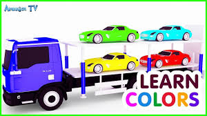 colours for children with small cars u0026 car cartoon best videos
