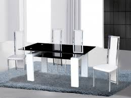 white high gloss table black white high gloss glass dining table 4 chairs homegenies