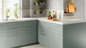 ikea grey green kitchen cabinets a harmonious grey green bodarp kitchen ikea