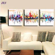 5 piece canvas wall art hand painted palette knife oil hand painted canvas wall art hand painted modern palette knife
