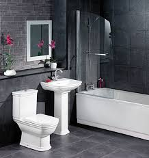 white and black bathroom decorating ideas grasscloth wallpaper