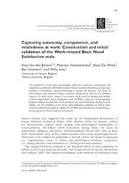 Journal Of Light Construction by Capturing Autonomy Competence And Relatedness At Work