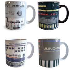 Porcelain Coffee Mugs by Classic Vintage Synth U0026 Drum Machine Mugs Set Of 4 Coffee Cups