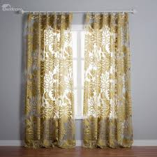 Custom Sheer Drapes Stylish Botanical Pattern Custom Made Sheer Curtain Beddinginn Com