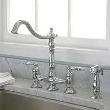 bridge style kitchen faucets bellevue bridge kitchen faucet with brass sprayer lever handles