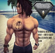 second marketplace wolf chest hair vi tattoos aesthetic