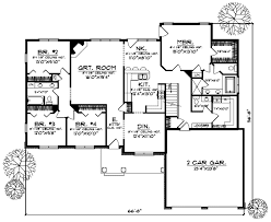 5 bedroom ranch house plans ranch house plan 5 bedrooms 3 bath 3312 sq ft plan 7 544