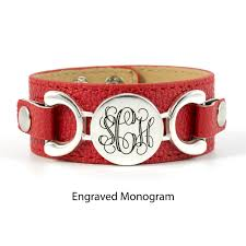 Monogrammed Cuff Bracelet Aj U0027s Collection Personalized Jewelry Interchangeable