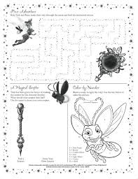 tinker bell activity sheet kids activities sheets free coloring