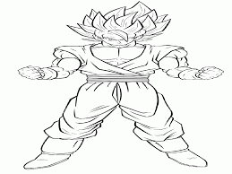 coloring pages trunks dbz kids coloring
