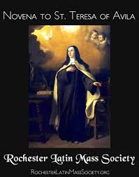 St Teresa Of Avila Interior Castle Novena To St Teresa Of Jesus Rlms
