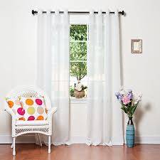 Washing Voile Curtains Amazon Com Best Home Fashion Crushed Voile Sheer Curtains