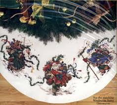 counted cross stitch tree skirts lights