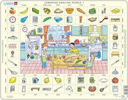 dans la cuisine puzzle cadre apprendre l anglais 1 dans la cuisine en anglais