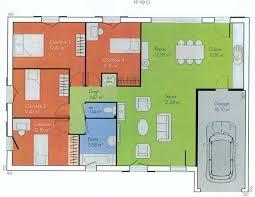 plan maison plain pied 5 chambres plan de maison 5 chambres plain pied gratuit fizzcur