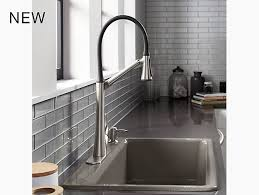 articulating kitchen faucet k r77764 sd arise articulating kitchen faucet kohler