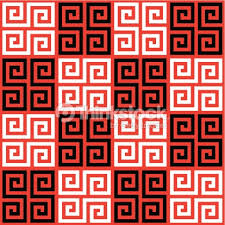 seamless checkered oriental greek key background pattern texture