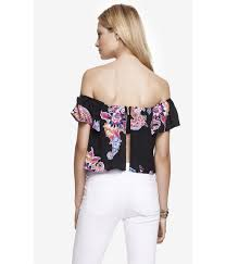 express print printed off the shoulder peasant blouse product 0 624102766 normal jpeg