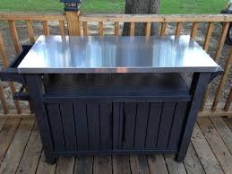 outdoor cooking prep table stylish outdoor grill table kakteenwelt grill prep table remodel