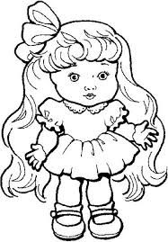 coloring doll coloring pages barbie printable pages