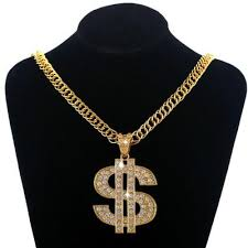 hip hop style necklace images Men women punk style dollar sign necklace hip hop dance charm jpeg