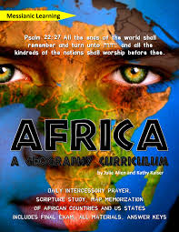 Africa Geography Map by Africa A Geography U0026 Intercessory Prayer Curriculum