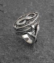 wiccan engagement rings eternity snake poison ring celtic jackalope