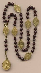 seven sorrows rosary soothing antique servite seven sorrows rosary glowing brass