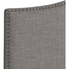 tan queen headboard bedroom bed upholstered home furniture