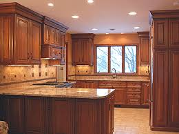 Birch Kitchen Cabinets Offer Right Combination To Dark Color Tiles - Birch kitchen cabinets