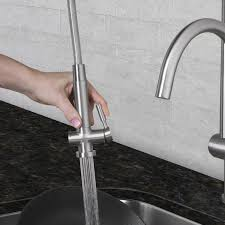 kes leadfree kitchen faucet pull out spray single handle sus 304