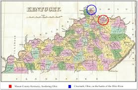 Ohio On Map by The 1849 Cholera Epidemic In Kentucky And Ohio And Its Connection