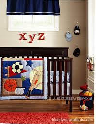Baby Boy Sports Crib Bedding Sets 3d Printing Embroidery Basketball Football Baseball Pattern Baby