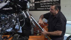 harley fork sliders removal fix my hog
